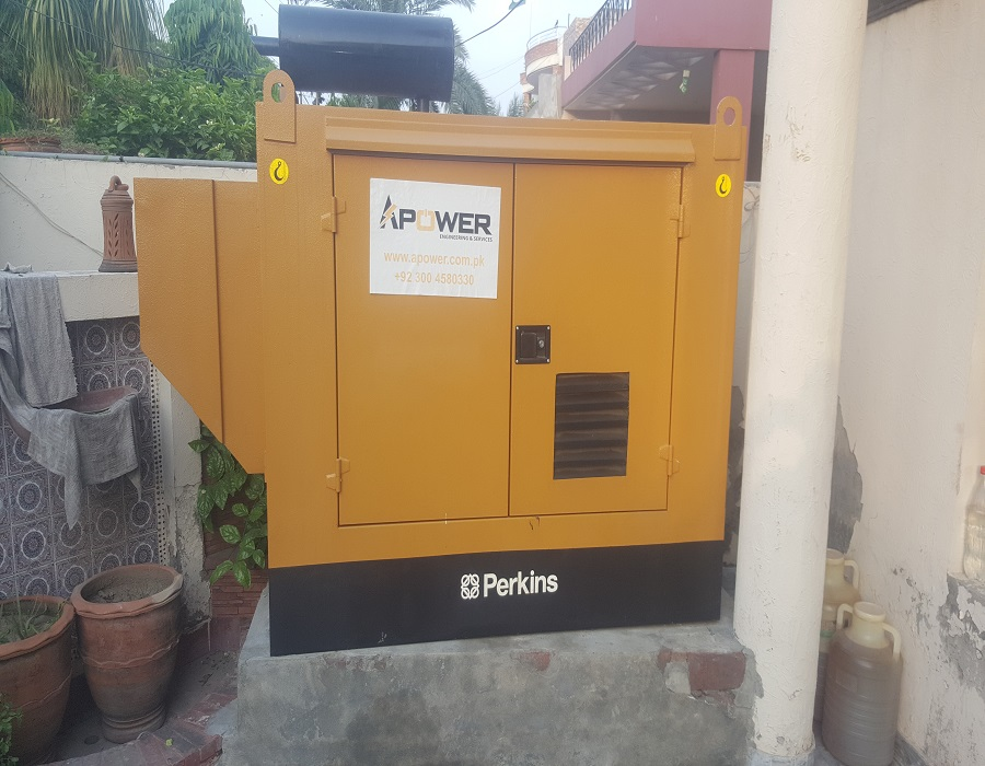 20KVA PERKINS DIESEL GENSET INSTALLED AT A HOME WITH LIMITED SPACE AVAILABLE